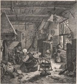 1771年铜版画《阿德里安·范·奥斯塔德绘画》1#