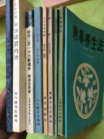 """武术书一批(合售):共9册、具体书名如下"""""""
