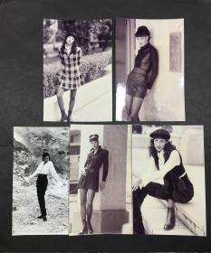 80年代明星旧照片(不知名5枚)