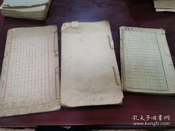民国老本子三本 尺寸 两本24*14厘米一本13*20厘米,三本80页左右!