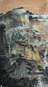 山水名家凌云子老师六尺整纸精品山水,保真纯手绘