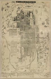 0114古地图1653 新改洛阳并洛外之图。纸本大小106.43*163.97厘米。宣纸原色微喷印制,