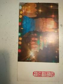 328。明信片。哈尔滨冰灯。武汉大学林文来收。18.5*9.5cm