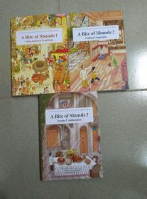A BITE OF SHUNDE 三册全 顺德的美食和风俗 有李小龙和叶问合影老照片