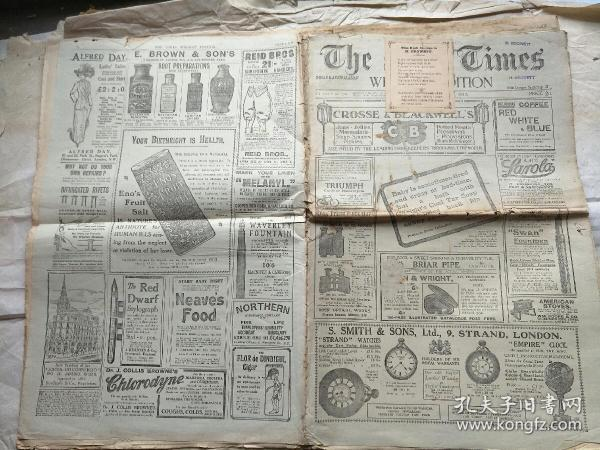 THE  TIMES  WEEKLY  EDITION锛�1910骞村����涓��ョ��  ��寮�32��锛�