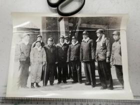1960年邓小平,刘澜涛,彭真,杨尚昆视察淮南谢一矿老照片