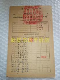 """老部队资料卡片----海军学院卫生处《海军少尉""""闫来顺""""-----服装供给卡片》!(1960至1962年,包老保真,32开2页 )"""