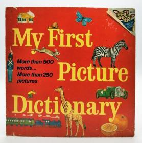 My First Picture Dictionary: More than 500 words...More than 250 pictures 英文原版《我的第一本图片词典:超过500个单词…超过250张图片》