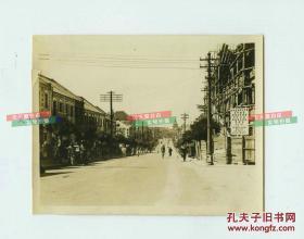 民国时期山东青岛河南路明华商业储蓄银行在建时期的老照片,10.8X8.4厘米,正是这个银行上演了民国金融第一大案---青岛明华银行倒闭风潮
