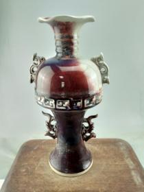 乡下收来的钧瓷大瓷瓶A9006.