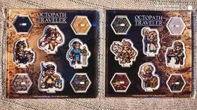 Nintendo Switch 八方旅人/歧路旅人OCTOPATH TRAVELER SQUAREENIX咖啡馆限定亚克力人物立牌 金属人物胸章扭蛋