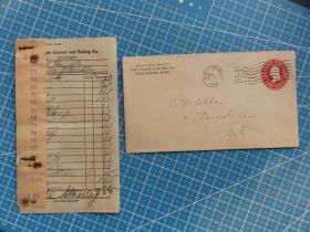1912年5月1日美国2分邮资实寄封、含信件(66)
