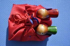 韩国原装 木质鸳鸯鸭子摆设 婚庆用品 朝鲜族工艺品