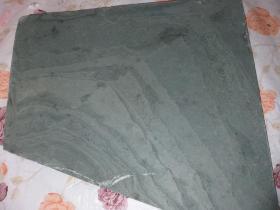 天然山峰松花石摆件奇石装饰品观赏石茶台 砚台板30×28.5×2.5cm