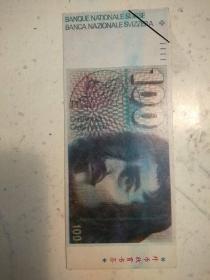 436。外币欣赏书签。瑞士法郎。