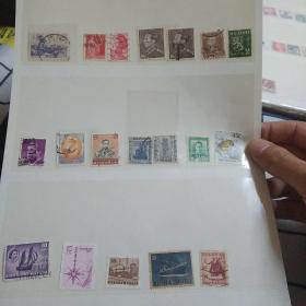 混合邮票19枚