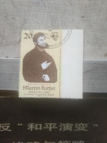 外国邮票  密集老头图案