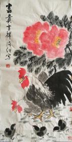 田绪红老师大写意国画雄鸡,富贵吉祥。