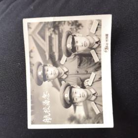 黑白照片,航校留念!国营保定第一照相部!五十年代照片!航空学院留念,军人相片!