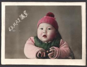 1963年手工上色儿童老照片