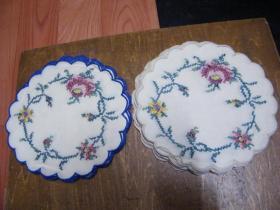 七八十年代手工绣花杯垫(2叠24个,未用)