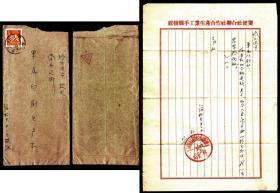 普8炼钢工人8分 销1958黑龙江绥棱戳实寄封 附原信纸一张   9品以上