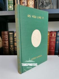 as you like it 《皆大欢喜》shakespeare 莎士比亚经典戏剧 1909 年布面精装版