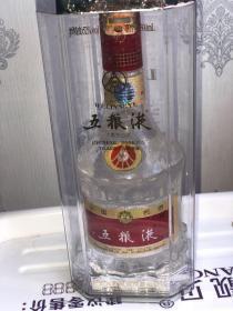 五粮液 浓香型 52度 2007年原装原封 水晶收藏玻璃瓶1只