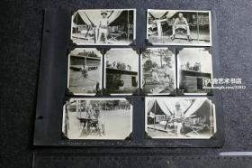 民国时期在中国驻扎的美国士兵日常生活训练照片一组14张,泛银。天津?上海?从侧面了解驻华美军的普通人生活一面,幽默而搞笑。