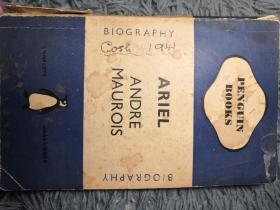 ARIEL A SHELLEY ROMANCE BY ANDRE MAUROIS 有签名