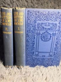 1917年签名  LIFE AND LETTERS OF LORD MACAULAY  2本全  16X11.5CM