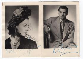 好莱坞经典女神 费雯丽 Vivien Leigh 亲笔签名照 《乱世佳人》《魂断蓝桥》主角