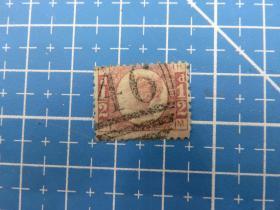 1870年英国发行女王像半便士邮票-MH--销46号邮戳--邮票1张(5)