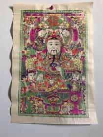 杨家埠木版年画《财神》