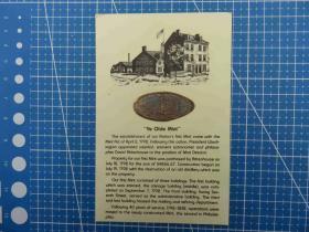 美国1992年--美国费城造币厂建立200周年金属铭牌--美国费城造币厂图--贺卡空白明信片(101)-收藏集邮绘画-复古手账素材-外国邮政-明信片