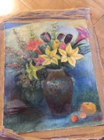花卉油画作品
