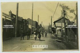 民国1933年冬季日军入侵黑龙江省牡丹江市穆棱老照片,穆棱的街道和日军,俄国女子等