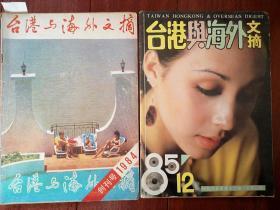 《台港与海外文摘》创刊号终刊号一套两册1984年有创刊词,有更名启事,熊猫特使飞美参加奥运会侧记,乾隆韵事,中国酒香三千年,第十四个密探,