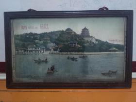 1958年本溪钢铁公司高产纪念(北京万寿山全景织锦画)