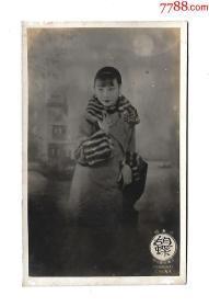 民国老上海美女电影皇后胡蝶照片型明信片