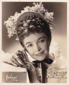 """""""美国第一部商业电影《一个国家的诞生》女主角""""-莉莲•吉许签名照片"""