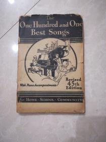 民国英文原版钢琴曲谱The  One  Hundred  and  One  Best  Songs