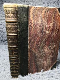1861年  THE MACDERMOTS OF BALLYCLORAN 特罗洛普 BY ANTHONY TROLLOPE  3/4真皮装帧 三面书口花纹 18.5X13CM