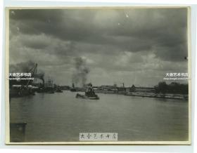 民国天津白河运河航运老照片,10.2X7.6厘米