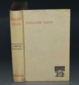 1889年 English Odes 著名的吉斯选本《英语谣曲选》全白犊皮(VELLUM)装桢 日本犊皮纸印制 版画插图 增补插图 品相上佳