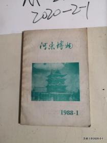 山西期刊创刊号:河东博物1988年第1期