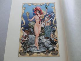 【百元包邮】《天使诱惑》系列之17  1932年彩色石版版画 多彩套印 法国著名插图画家 Cheri Herouard 作品 尺寸26*19.7厘米