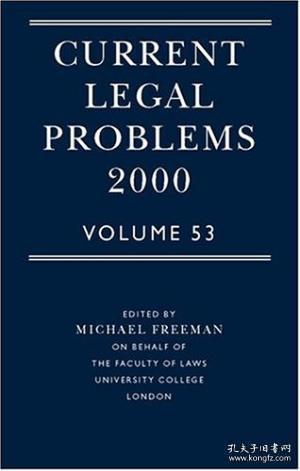 【包邮】2001年出版 Current Legal Problems 2000: Volume 53