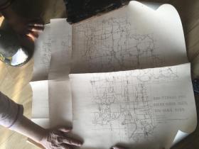 清代1879年石印  苏州府 地图 三大张 包老包真