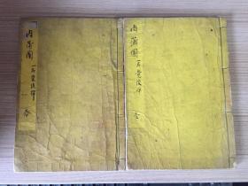 日本宝永乙酉年(1705年上梓)和刻《肉蒲团(一名觉后禅)》存首尾两册,全汉文木版印刷